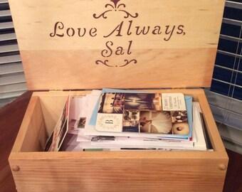 Handmade Wooden Keepsake Box, Wooden Storage Box, Wood Box, Pine Storage Box