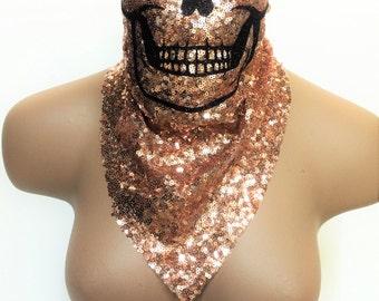 Burning Man Clothing, Skull Mask, Halloween Costume, Halloween Mask, Skull Half Mask, Music Festival Clothing, Dust Mask, Festival Outfit