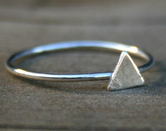 Triangle Sterling Silver Stacking Ring