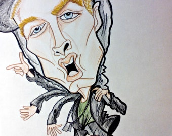 Eminem Caricature Hip Hop Music Art Rock and Roll Art