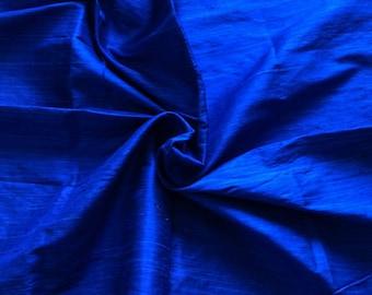 Pure Silk Fabric, Pure Dupioni Silk Fabric, Silk Fabric, Indian Silk Fabric, Blue Silk Fabric