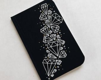 Hand Drawn Diamonds Pocket Notebook