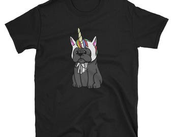 Funny Unicorn French Bulldog T-Shirt, Cute French Bulldog Gifts, Frenchie Dog Shirt