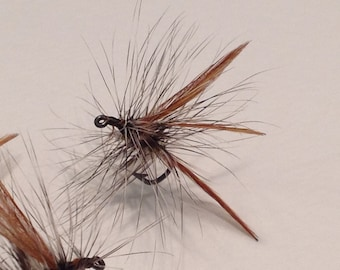 Fly Fishing Flies: Three (3) Red Wing Quil Dry Flies