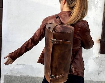 Leather woman bag Italia