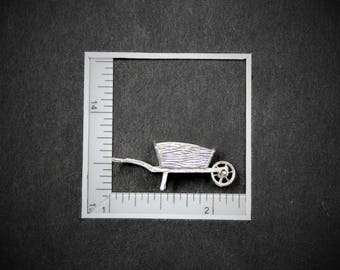 English Silver Charm Wheel Barrow from StoryTeller Charms 360