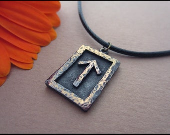 Viking Courage and Bravery Rune Tiwaz - Viking and Norse Jewelry Pendant Necklace
