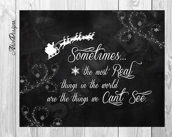 Christmas Printable, Polar Express Quote, Instant Download, 8x10