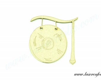 Musical instrument: the Gong, made in medium, size 5cm