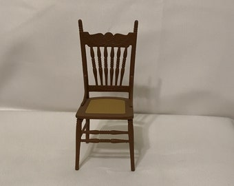 """Dollhouse Miniature 1"""" Scale Chrysnbon Chair"""