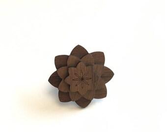 Walnut Kids Lapel Pin - Wood Lapel Pin