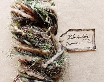 Sagebrush pastel green fringe malt ombre trim silver tinsel Novelty Fiber Yarn Sampler Bundle