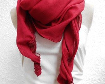 Cloth Clarissa ladies red top end cotton hand dyed