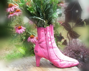 flower planter - outdoor planter , Patio Planter - Shoe planter -   Garden decor- Garden art -  # 17