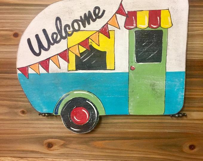 Retro Camper Welcome Sign