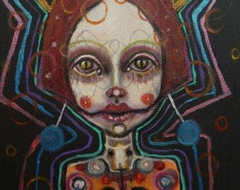 Original, girl ,painting, art, surreal,