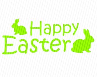 Happy Easter SVG, Easter Svg, Easter Eggs SVG, Easter Basket Svg, Happy Easter, Silhouette Cut Files, Cricut Cut Files, Svg Files
