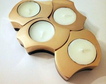 Bronze Flame Candleholder