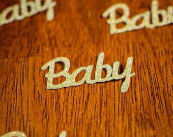 Gold Glitter Baby Shower Confetti