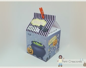 "PRINTABLE MILK Carton ""Spooky Milk"" DIY, gift idea, placeholders, favor box, treat box, gift box for Halloween party"