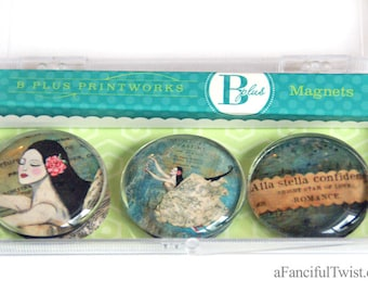Bright Star of Love Glass Magnets
