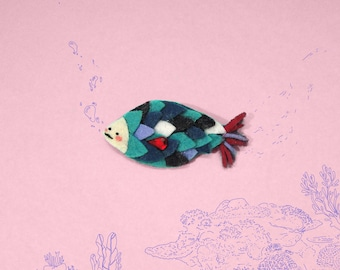 Fish pin - Handmade jewel