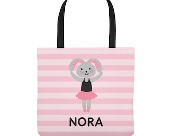 Bunny Ballerina Bag - Personalized Ballet Tote for Kids - Three Sizes - Dance Bag
