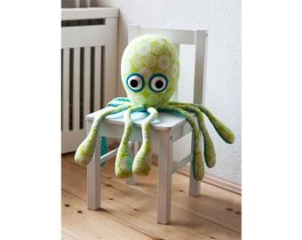 Octopus sewing pattern PDF plush toy