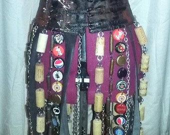 Post Apocalyptic Fringe Skirt