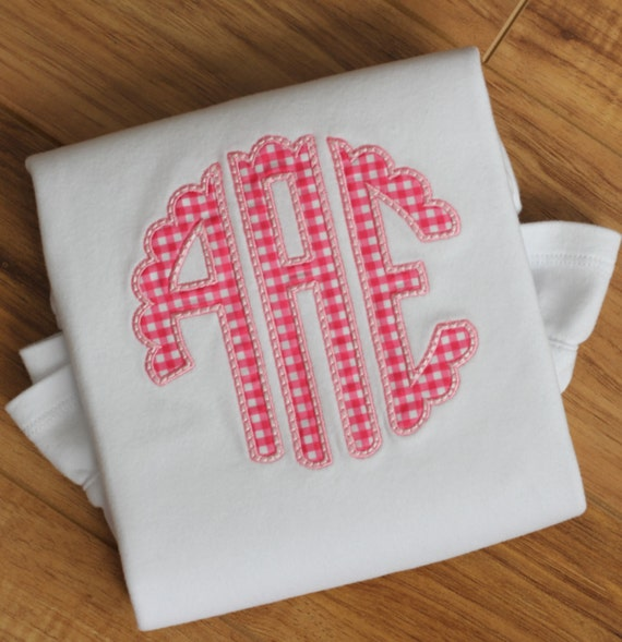 Girls Monogram Appliqué Shirt