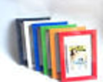 Photo Frame Office Desk Family Wall Decor Decoration Picture Frames Orange Blue Red Green White not A3