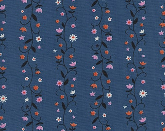 Daisy Vines in Denim from Welsummer by Kimberly Kight for Cotton + Steel