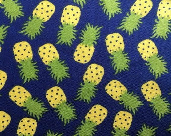 Blue Pineapple Scrunchy