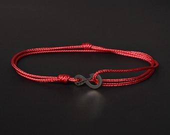 Herren Evil Eye Armband - Schutz Herren Armband - Rotes Band des Schicksals - Kabbala Armband - Warp Armband - rot String für Männer