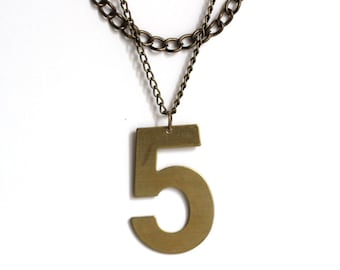 Lucky Number Necklace - No. 5