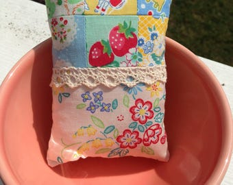 Small pincushion patchwork pincushion sewing gift sewing accessories gifts for her
