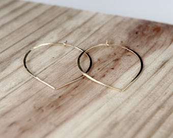 Peachy Hoops - Gold and Silver