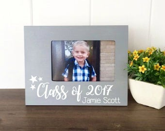 Personalized Preschool Graduation Picture Frame, Class of 2017, School Years Picture Frame, Preschool Graduation Gift,  Kindergarten Grad
