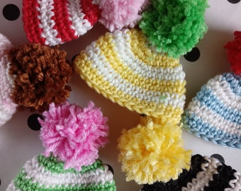 6 crocheted egg cozy