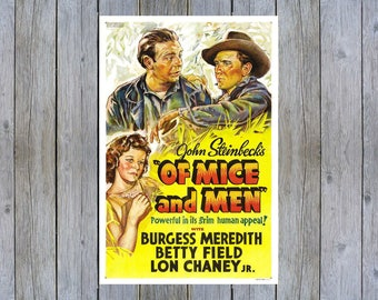 1939 Of Mice and Men vintage movie poster print