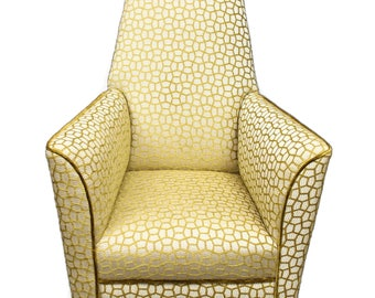 SOLD -Art Deco Rocking Armchair fully restored and reupholstered
