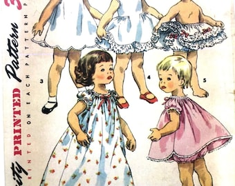 Vintage 1950's Sewing Patter  Toddler's Dainty Frilly Petticoats Size 3 Breast 22""