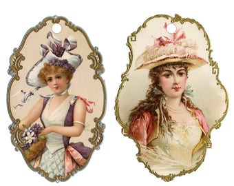 Victorian Lady Gift Tags