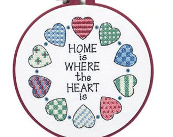 Learn-a-Craft Stamped X Stitch: Home and Heart - Dimensions
