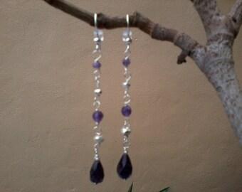 Purple Dusk - Amethyst and sterling