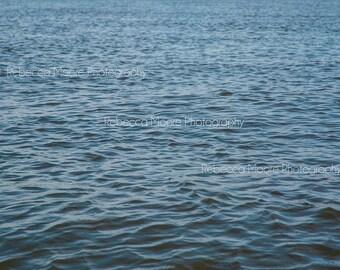 Calm Waters Rectangular Photograph Nautical Art Ocean Water Decorative