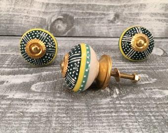 Decorative Tomato Pull Knobs, Craft Supply Knob, Ceramic Hand Painted Drawer Pull, Cabinet Knobs, Item #514451163