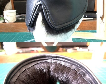 Leather & Faux Fur Blindfold
