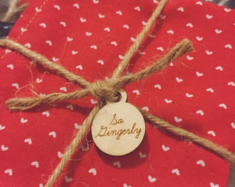 Wood hang tags - 100 units - custom cut any shape and engraved