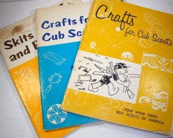 Crafts For Cub Scouts, Skits And Puppets, Pow Wow Series, Boy Scouts Of America, Set of 3 Books  (782-14)